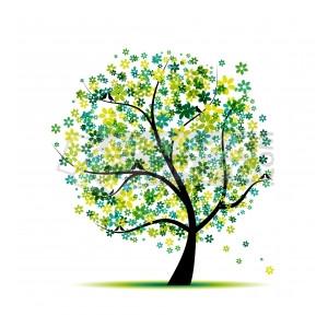 Vector Clipart Spring Tree Bird Clip Art Clipartnet, Spring Tree.