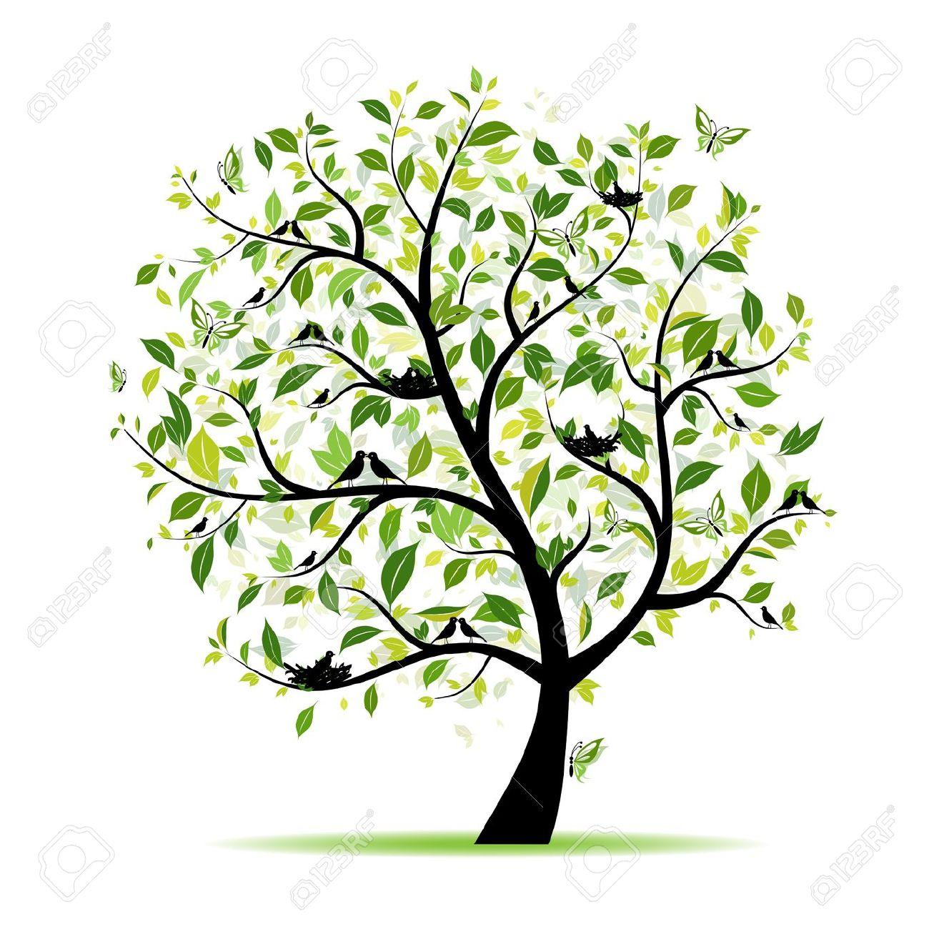 Spring Tree Clipart Transparent.