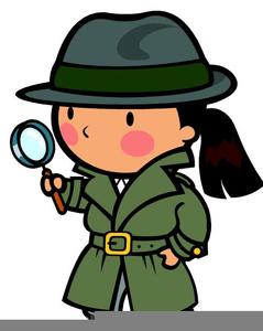Detective Spyglass Clipart.
