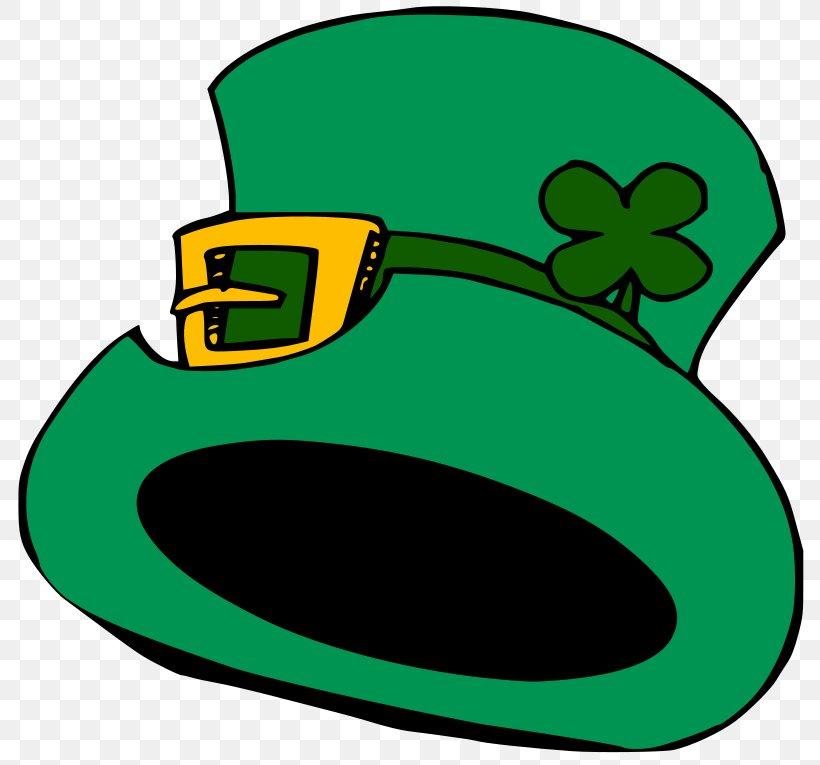 Hat Shamrock Saint Patricks Day Clip Art, PNG, 800x765px.