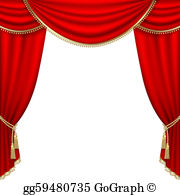 Stage Curtain Clip Art.