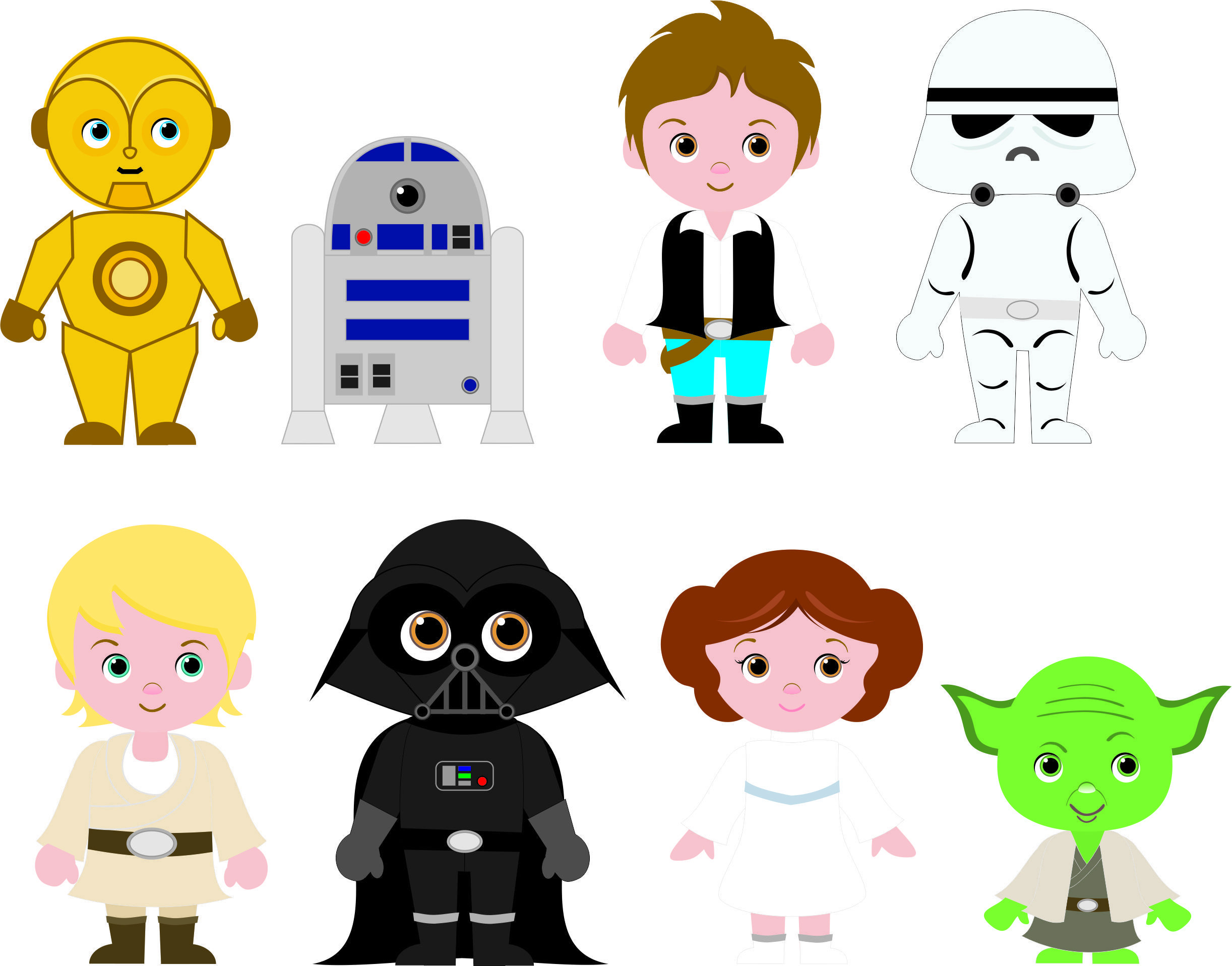 Star Wars Kids Clipart.
