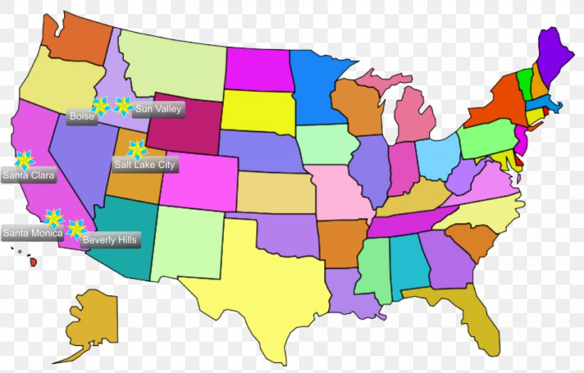 United States Map U.S. State Clip Art, PNG, 948x606px.