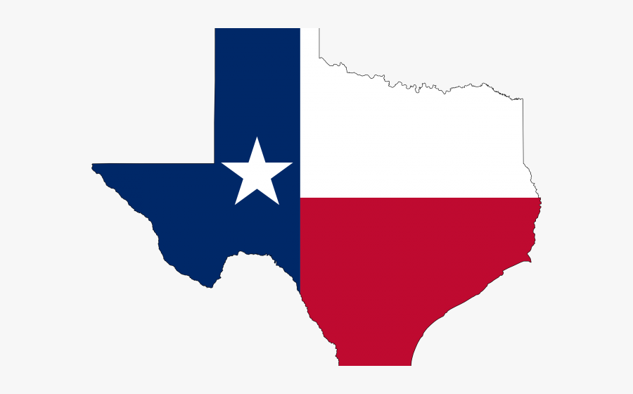 Texas Flag On State , Free Transparent Clipart.