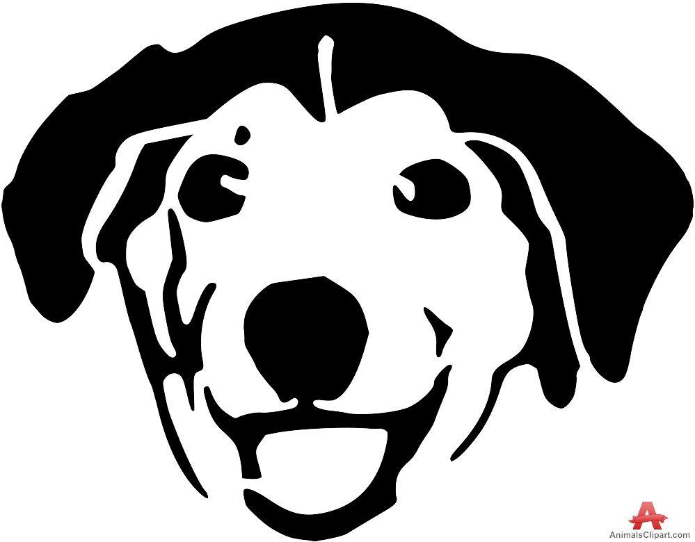 Happy Retriever Dog Stencil Face.