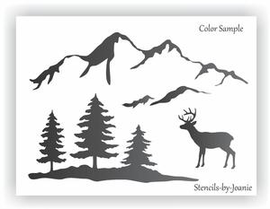 Christmas Stencils Clipart.