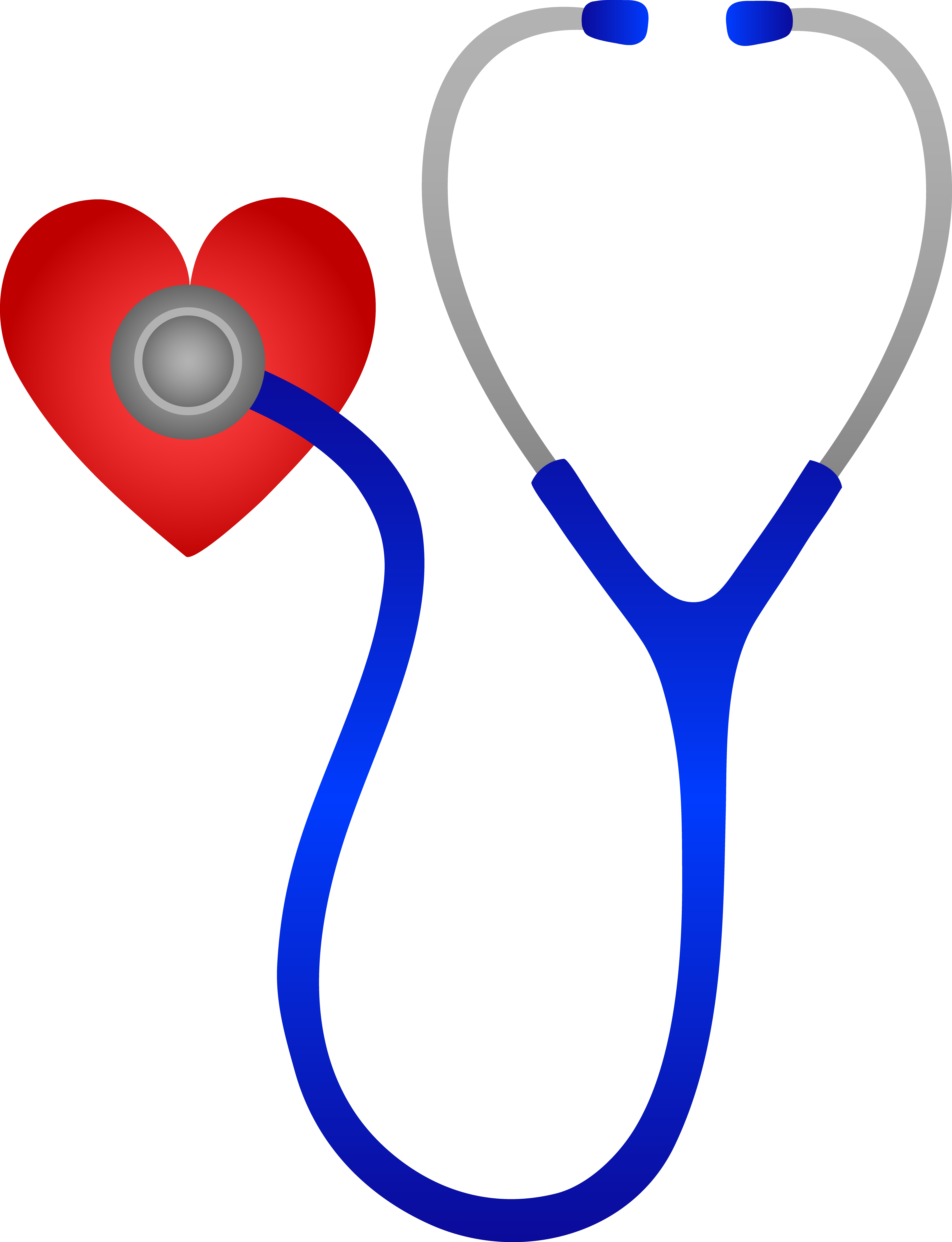 1190 Stethoscope free clipart.