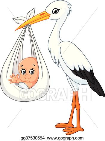 Free clipart stork carrying baby 2 » Clipart Station.
