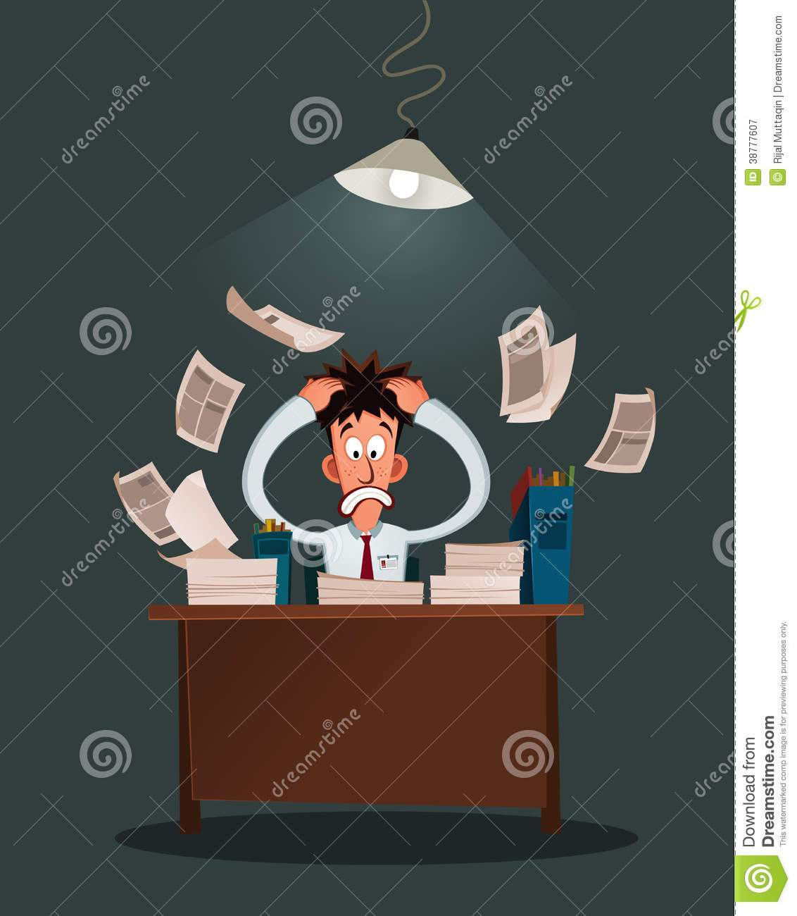 Free clipart stressed office worker » Clipart Portal.