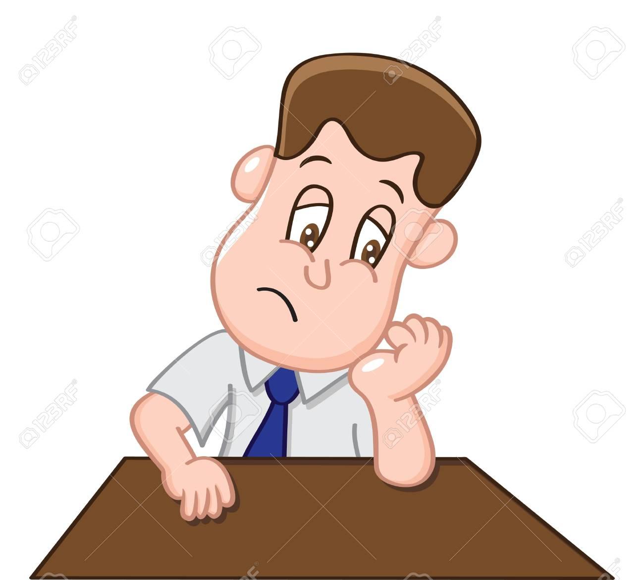 Stress office worker.