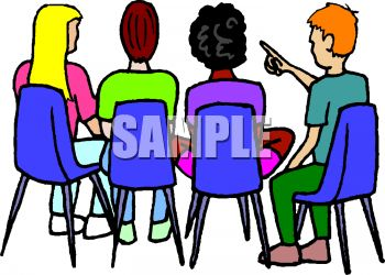 Free Clipart Student Discussion.