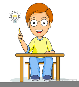Students Thinking Clipart.