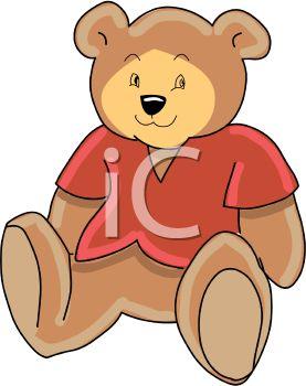 Royalty Free Clipart Image: Cute Teddy Bear Stuffed Animal.