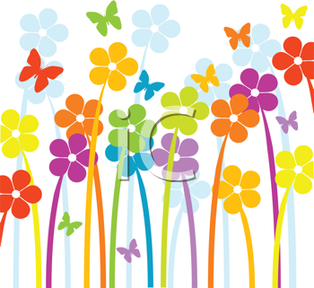 Summer Flowers Clipart Free.