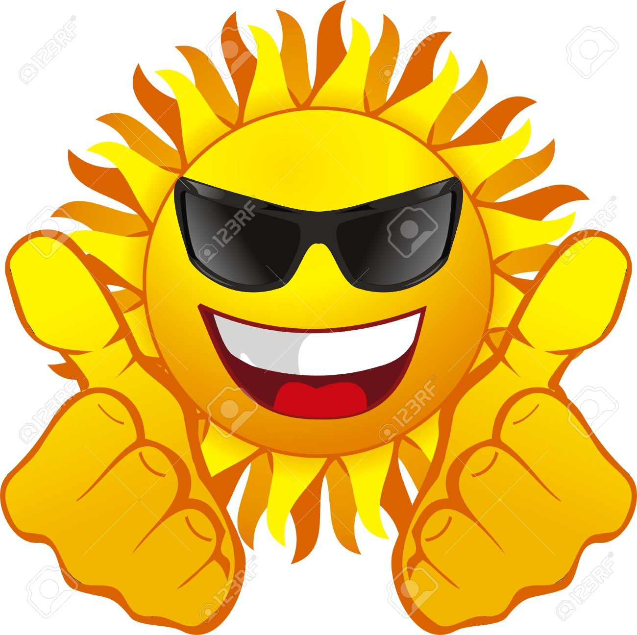 Sun With Sunglasses.