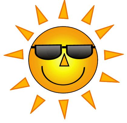 Sun Wearing Sunglasses Clipart.
