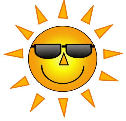 Sun Wearing Sunglasses Clipart.