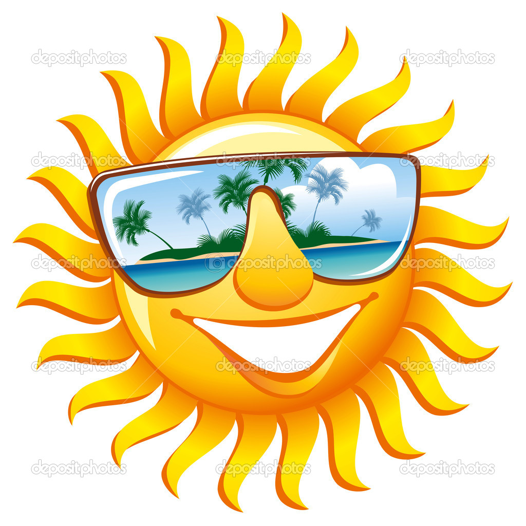 Smiling Sun With Sunglasses.