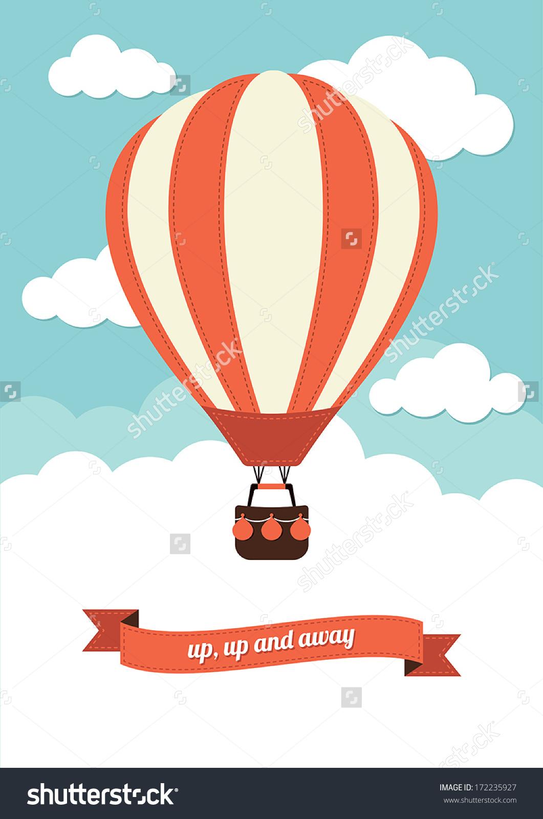 Hot Air Balloon Vector Graphic Stock Vector 172235927.