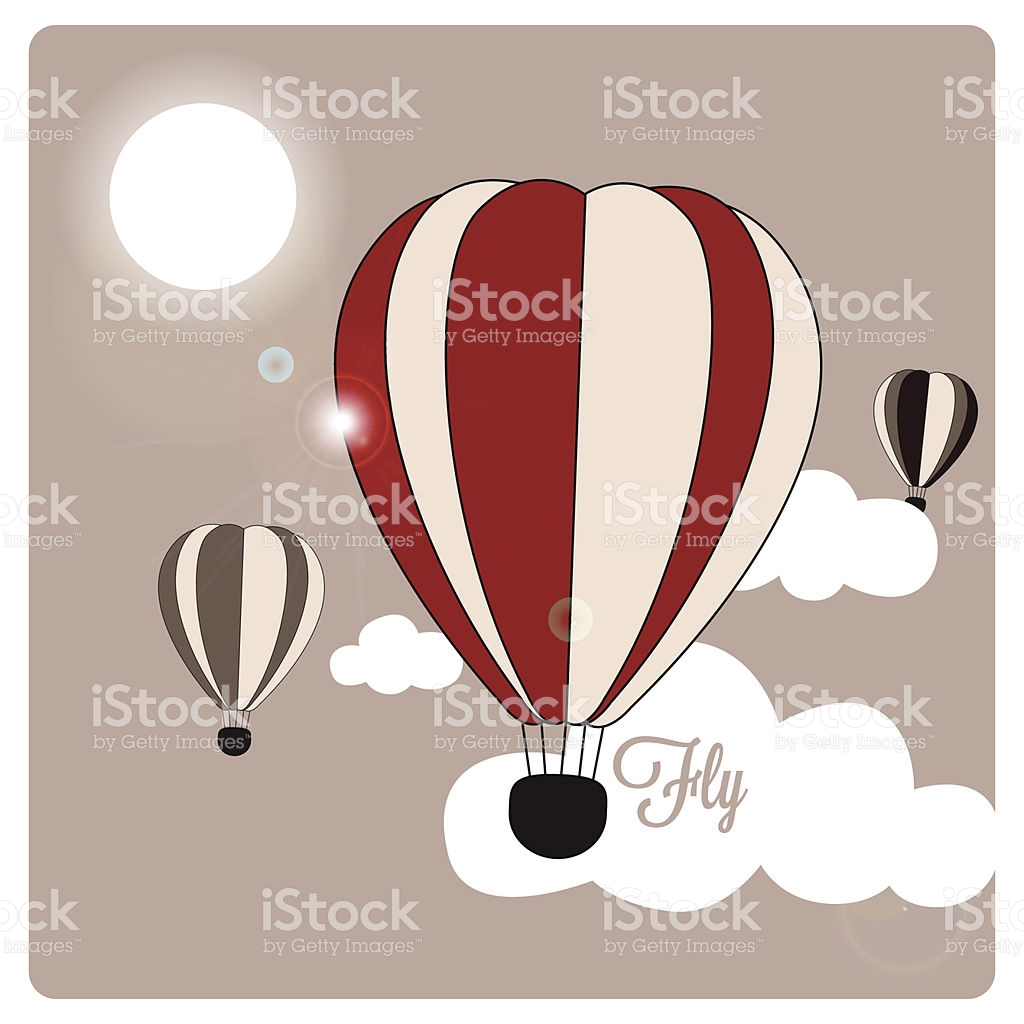 Hot Air Balloons Fly During A Sunny Day stock vector art 511550785.