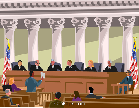 U.S. Supreme Court Royalty Free Vector Clip Art illustration.