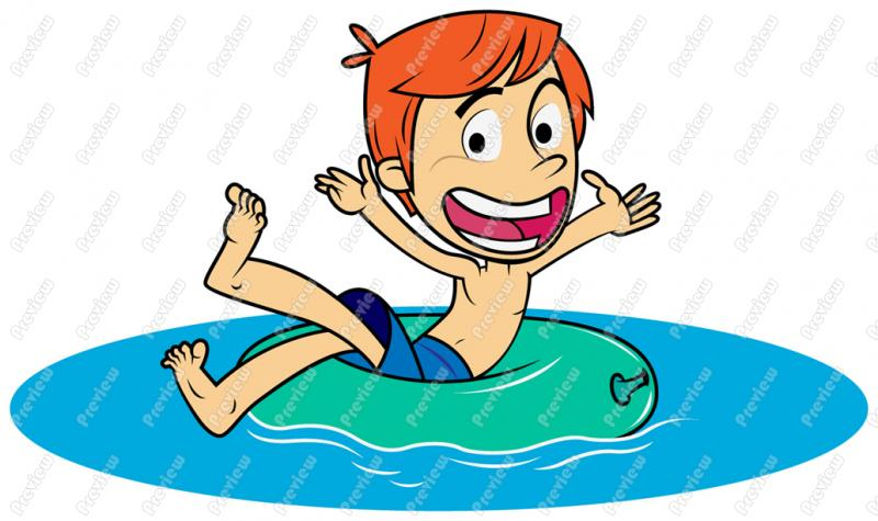 Swimming Party Clipart.