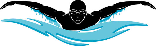 1002 Swimmer free clipart.