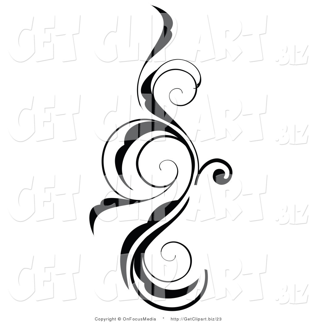Swirls And Curls Free Clipart.