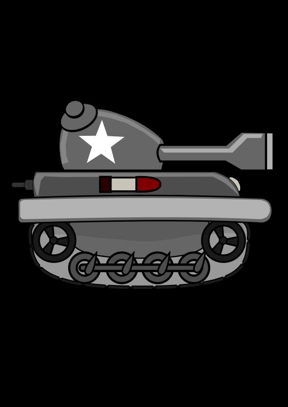 Free Clipart: Cartoon Tank.