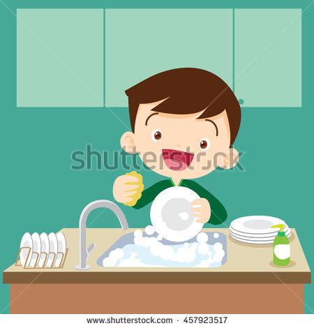Washing Dishes Stock Images, Royalty.