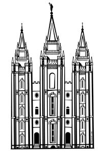232 Lds Temple free clipart.
