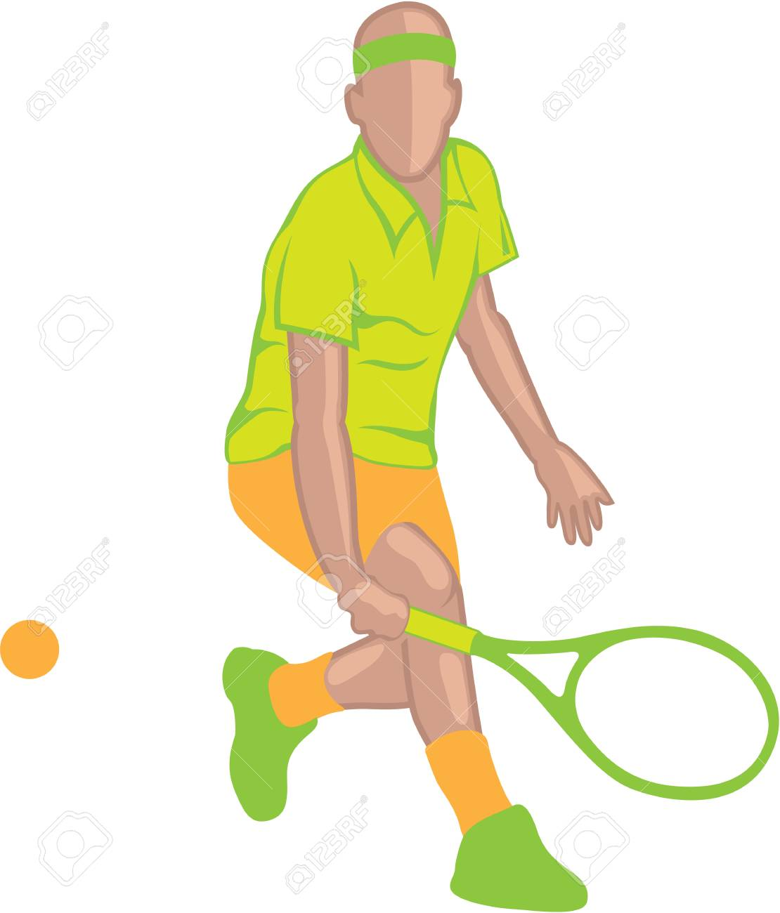 Tennis Player vector illustratioin clip.