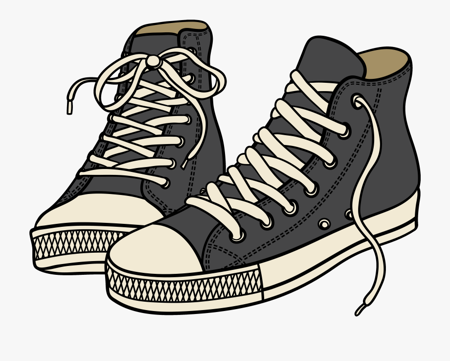 Tennis Shoe Clipart With Transparent Background.