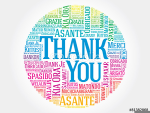 Free Thank You In Different Languages Clipart.