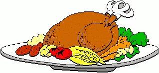 Turkey Dinner Clipart Images.