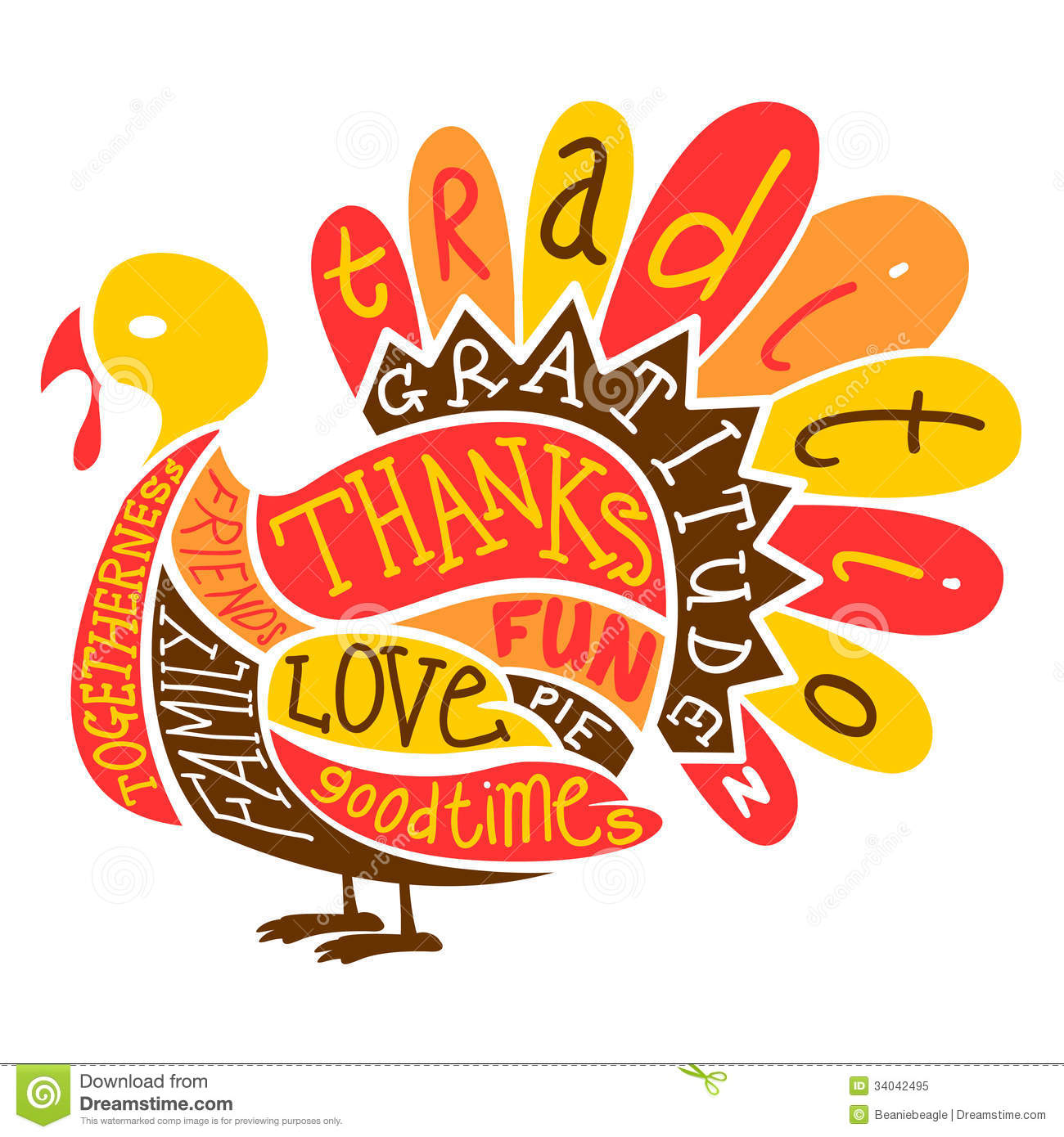 Thanksgiving Turkey Clipart Images.
