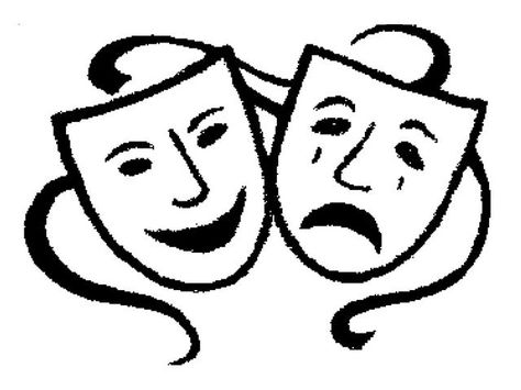 Theatre Masks Clipart.