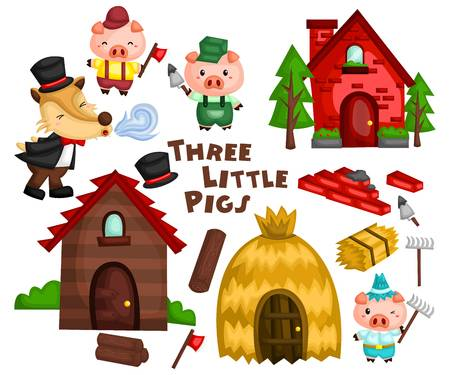 291 Three Little Pigs Cliparts, Stock Vector And Royalty Free Three.