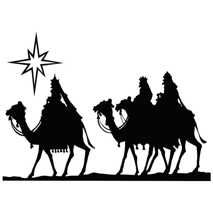 Three Wise Men Silhouette Clipart.