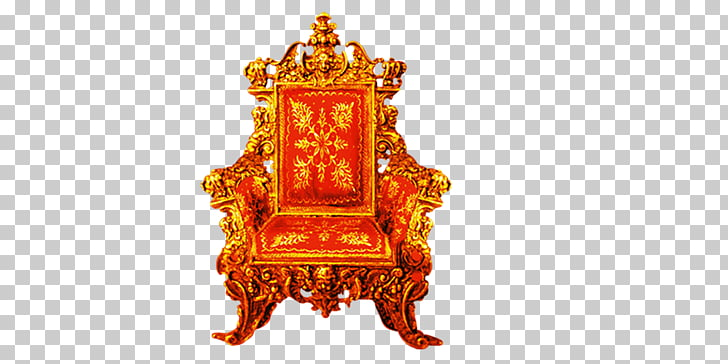 Golden Throne Chair , chair PNG clipart.