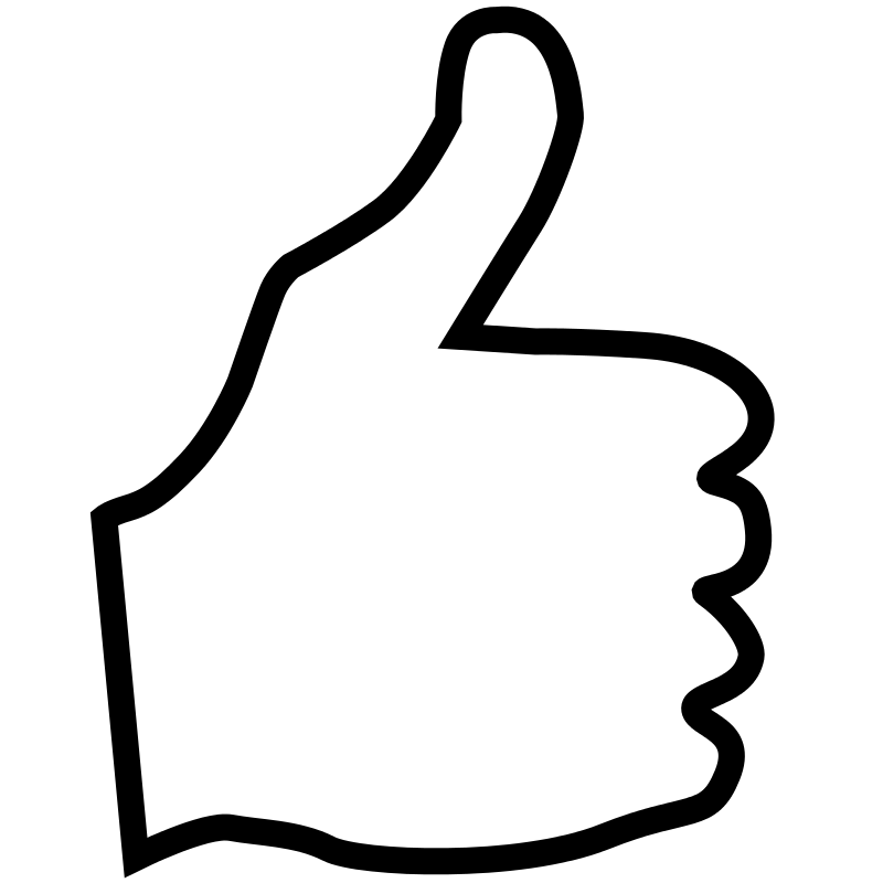 Free Clipart: Thumbs Up.