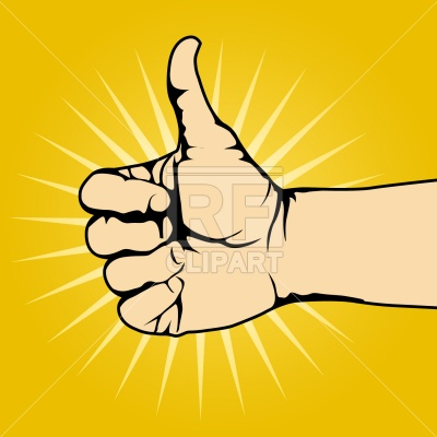 Thumbs up Vector Image #1576.