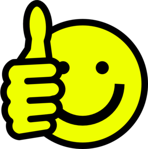 Smiley Face Clip Art Thumbs Up.