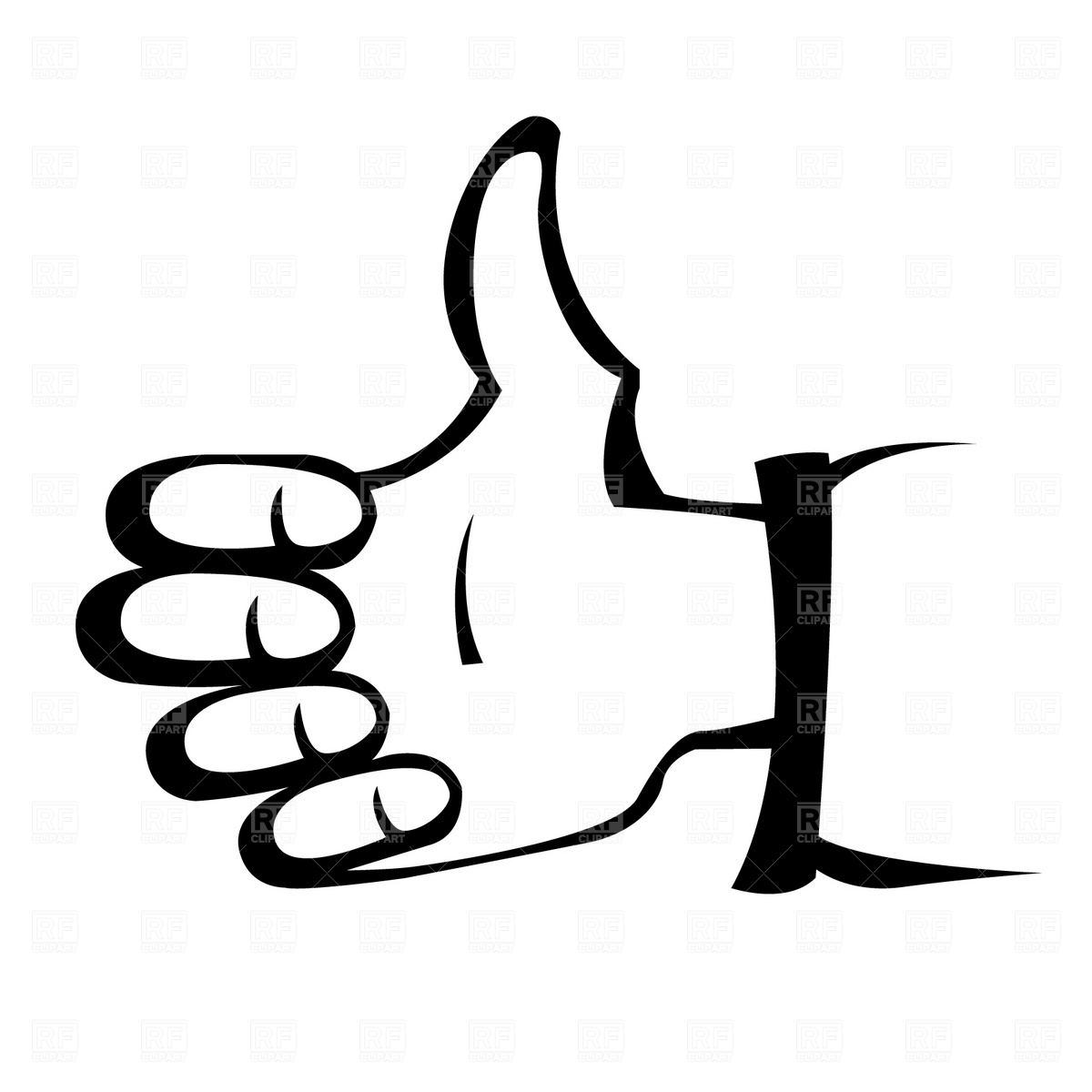 Free clipart thumbs up sign.