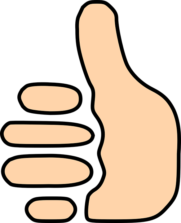 Free vector graphic: Thumbs Up, Thumb, Sign, Vote, Good.
