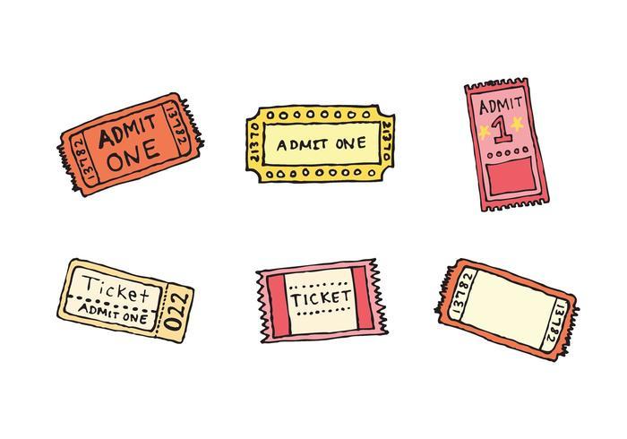 Free Concert Ticket Stub Vector Series.