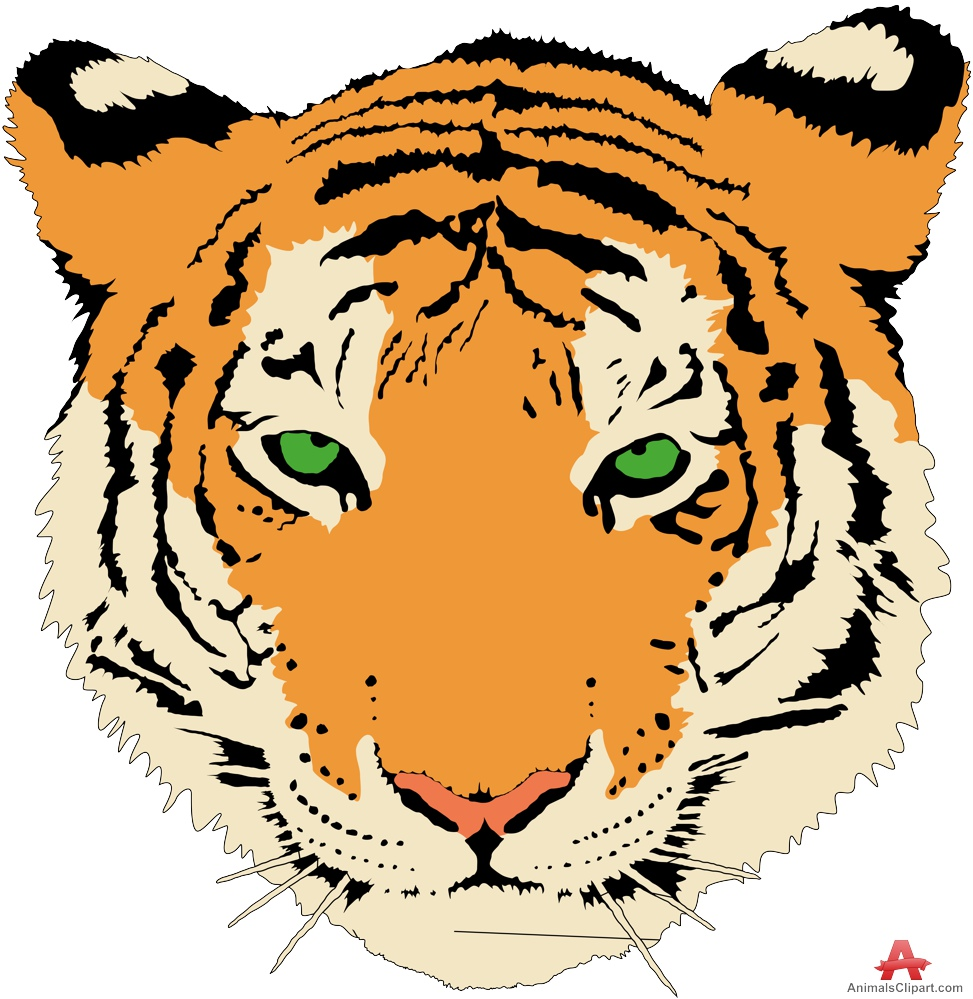 370 Tiger Face free clipart.