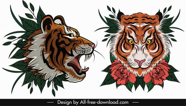 Tiger face vector free vector download (2,315 Free vector.