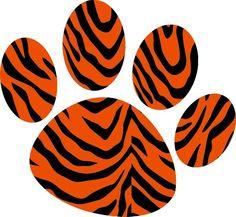 tiger paw clip art.