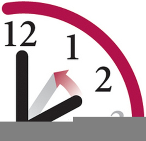 Free Time Change Clock Clipart.